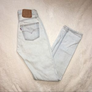 Vintage Levi's 501 high waisted mom jeans